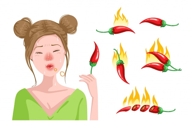 Nette jugendlichen essen paprika