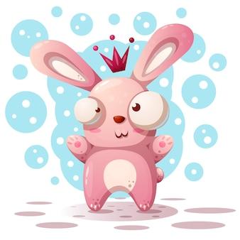 Nette kaninchenprinzessin - karikaturillustration.