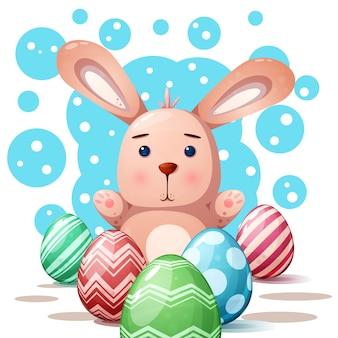 Nette kaninchenprinzessin - karikaturillustration