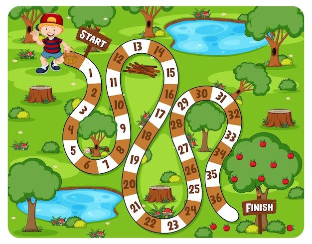 Nette karikatur-labyrinth-spielillustration