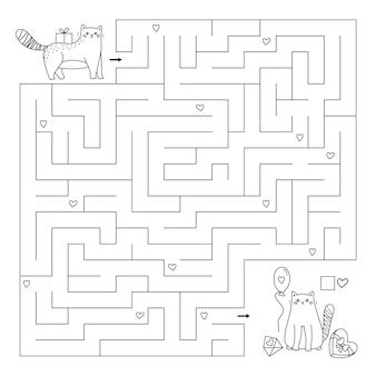 Nette karikaturkatzen mit geschenken