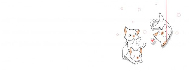 Nette katzencharakterillustration
