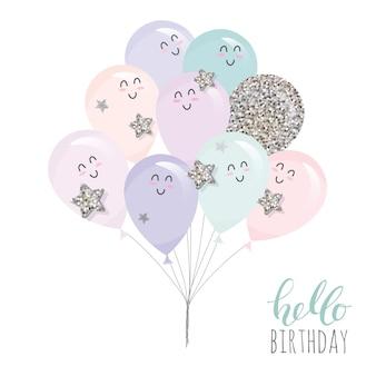 Nette kawaii Ballone.