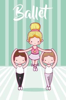 Nette kinder balletttänzer