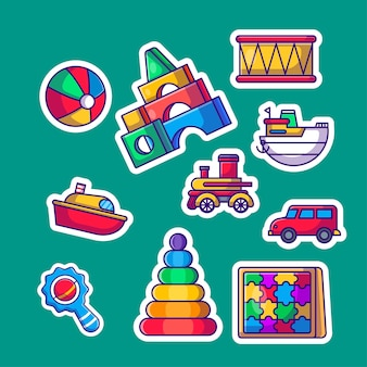 Nette kinderspielzeug-aufkleber-pack-sammlung