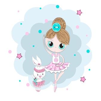 Nette kleine ballerinamädchen