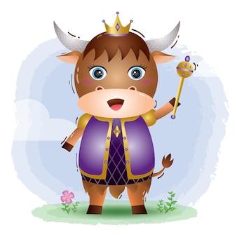 Nette könig yak illustration