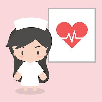 Nette krankenschwestercharakter-designillustration