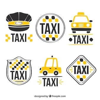 Nette logos für taxi-service