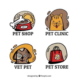 Nette logos mit tieren