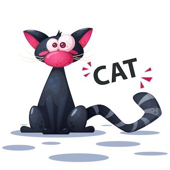 Nette, lustige katzenzeichentrickfiguren.