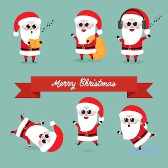 Nette lustige weihnachtsmann-sammlung