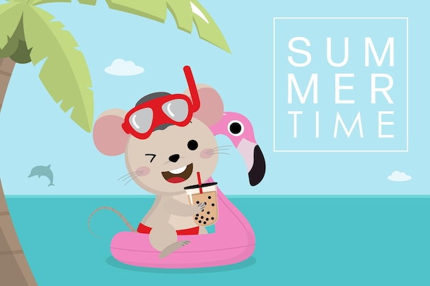 Nette maus und sommerferien