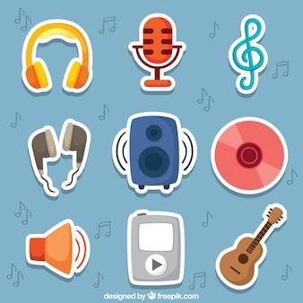 Nette musik-aufkleber