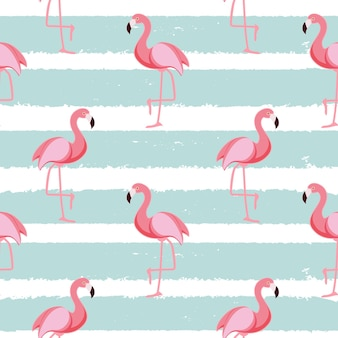 Nette nahtlose flamingo-muster-vektor-illustration eps10