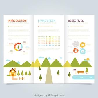 Nette ökologischen broschüre vorlage