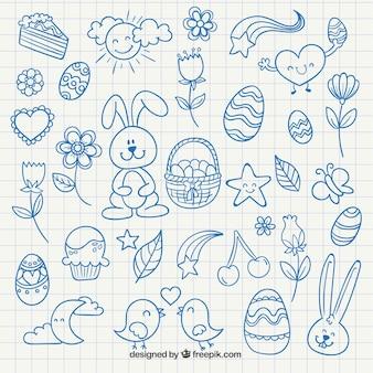 Nette ostern zeichnungen