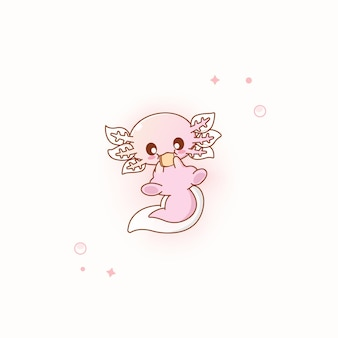Nette rosa axolotl-vektor-illustration