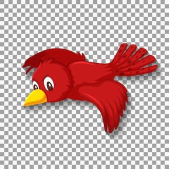 Nette rote vogelkarikaturfigur