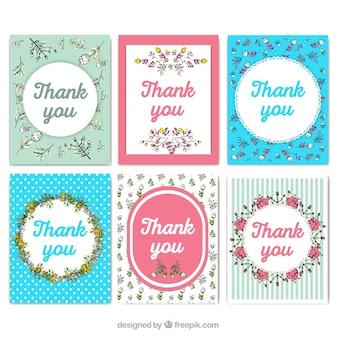 Nette sammlung danken ihnen karten im weinleseart