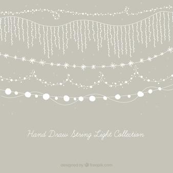 Nette Sammlung von dekorativen Lichterketten
