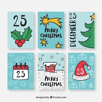 Nette sammlung weihnachtspostkarten