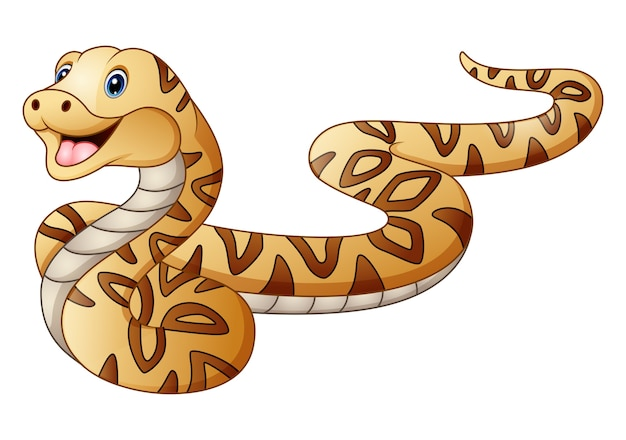 Nette schlangenkarikatur