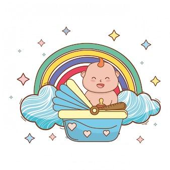 Nette schöne illustration der babyparty