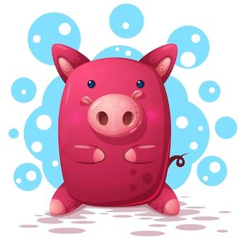 Nette Schweinillustration