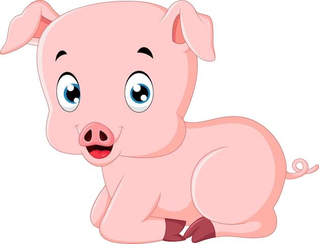 Nette schweinkarikatur