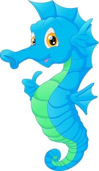 Nette seahorse-karikatur