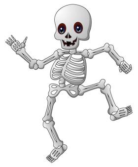 Nette skeleton karikatur