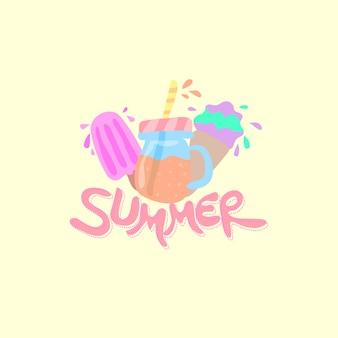Nette sommer-illustration