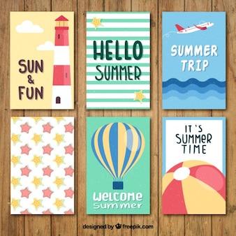 Nette sommer kartensammlung