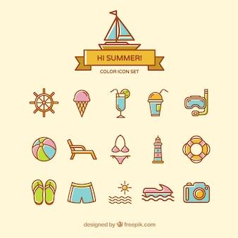 Nette sommer-symbole