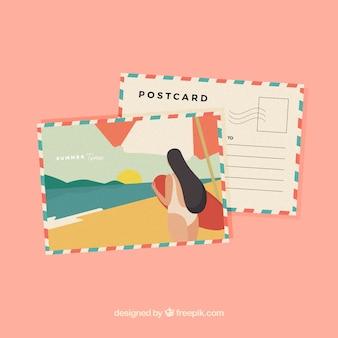 Nette sommerpostkarte