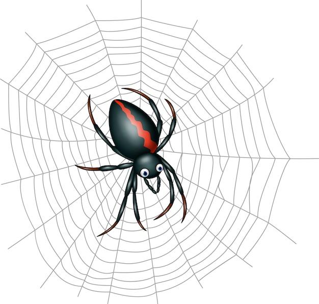 Nette spinnenkarikatur