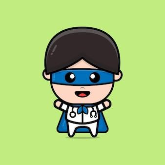 Nette superdoktor-charakterillustration