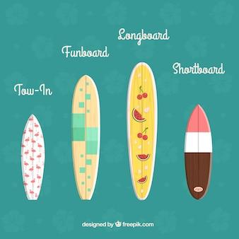 Nette surfbretter sammlung