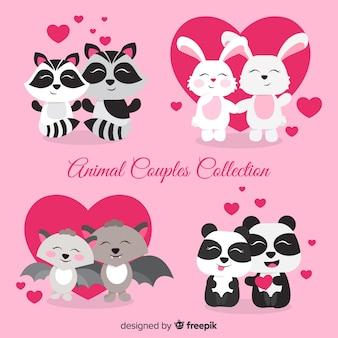 Nette tierpaarsammlung für valentinsgrußtag