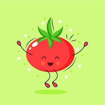 Nette tomatenzeichentrickfilm-figur