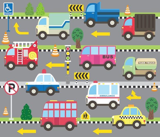 Nette transport-themensammlung