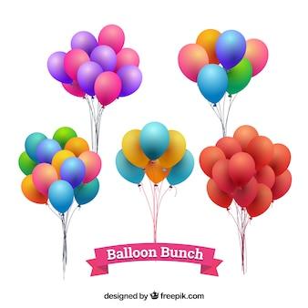 Nette und bunte dekorative ballone