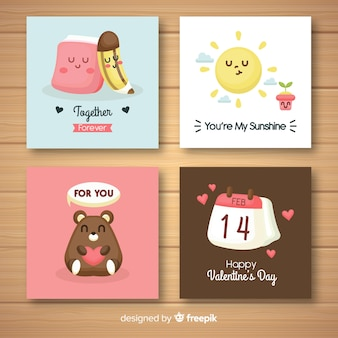 Nette valentinsgrußkartensammlung