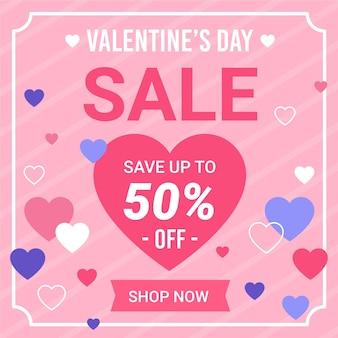 Nette valentinstagsverkaufsaktion