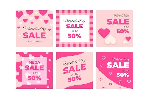 Nette valentinstagverkauf instagram beitragssammlung