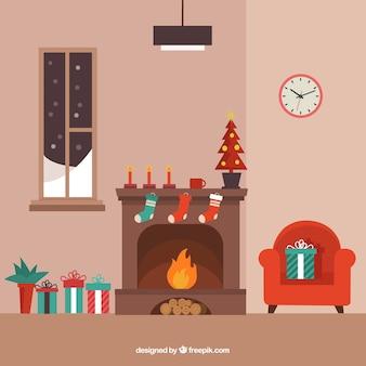 Nette weihnachts wohnzimmer