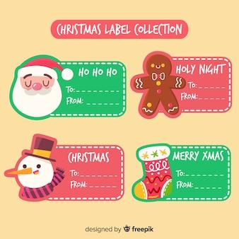 Nette weihnachtsaufklebersammlung