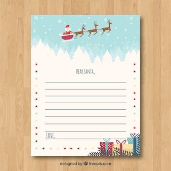 Nette weihnachtsbriefschablone