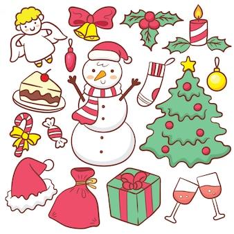 Nette weihnachtshand gezeichneter gekritzelsatz